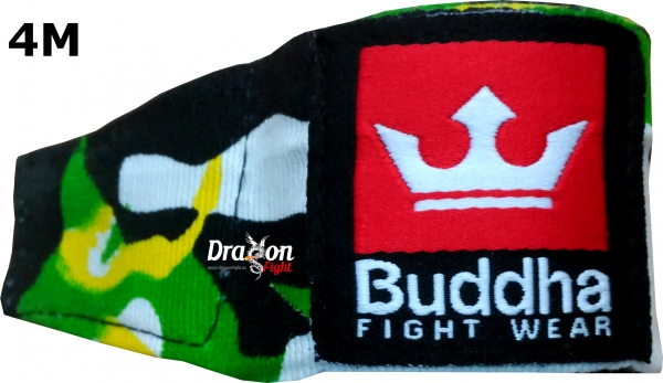 Buddha Boxeo MMA Vendas Algodón Army Jungle 4M