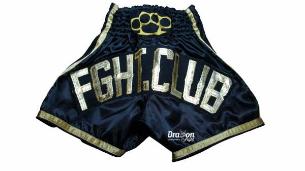 Fght.Club Shorts MMA Thai Gold-Carbon